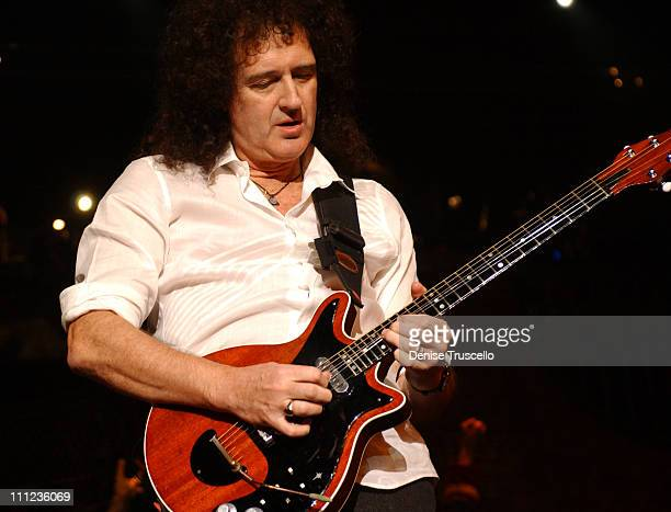 """Brian May of Queen during Brian May Special Performance in """"We Will Rock You"""" at Paris Hotel and Casino in Las Vegas, Nevada."""