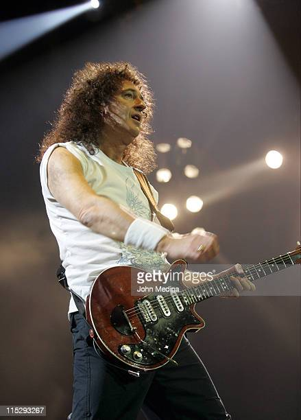 Brian May of Queen during Queen Paul Rodgers in Concert at HP Pavilion in San Jose April 5 2006 at HP Pavilion in San Jose California United States