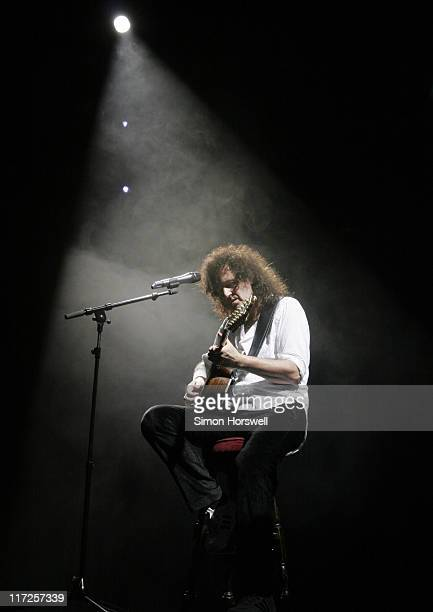 Brian May of Queen during We Will Rock You Charity Performance to Celebrate Freddie Murcury's 60th Birthday at The Dominion Theatre in London, Great...