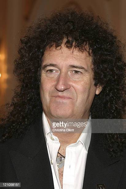 Brian May of Queen during 'We Will Rock You' Show Las Vegas Premiere at Paris Hotel in Las Vegas Nevada United States