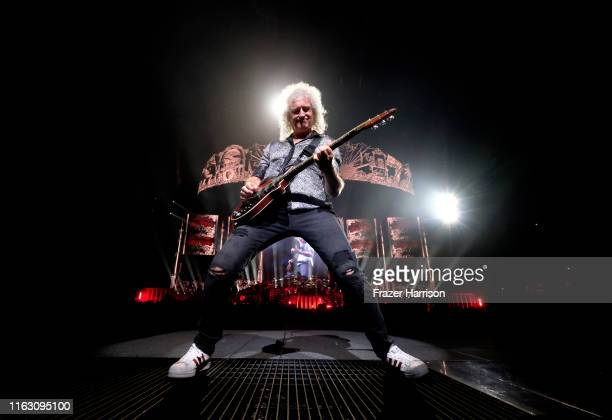 Brian May of Queen in concert at The Forum on July 19, 2019 in Inglewood, California.