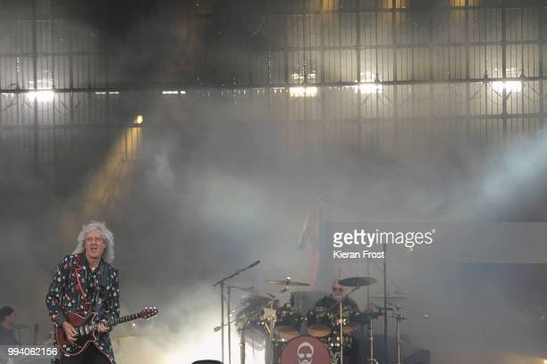 Brian May of Queen performs at Marlay Park on July 8 2018 in Dublin Ireland