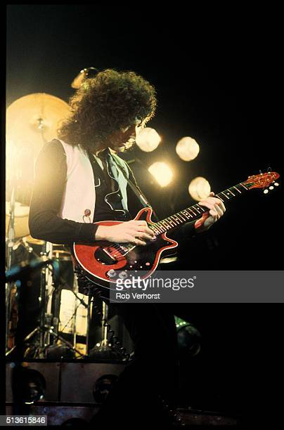 Brian May of Queen performs on stage at Ahoy Rotterdam Netherlands 29th January 1979