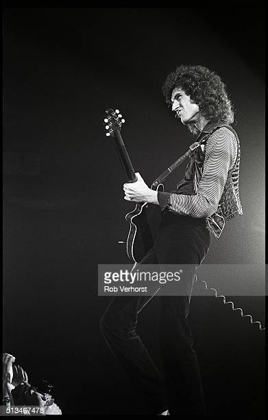 Brian May of Queen performs on stage at Groenoordhal Leiden Netherlands 27th November 1980