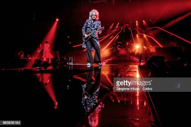 Brian May of Queen performs on stage at Mediolanum Forum of Assago on June 25 2018 in Milan Italy
