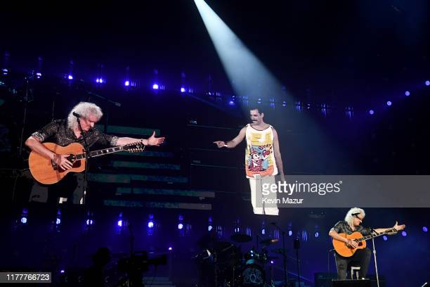 Brian May of Queen performs onstage during the 2019 Global Citizen Festival: Power The Movement in Central Park on September 28, 2019 in New York...