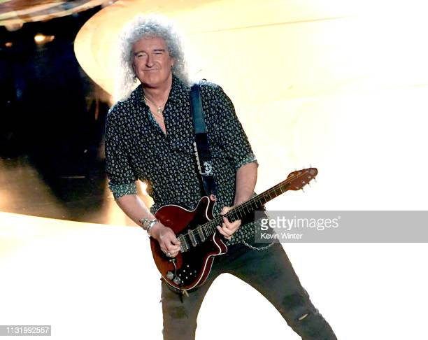 Brian May of Queen performs onstage during the 91st Annual Academy Awards at Dolby Theatre on February 24 2019 in Hollywood California