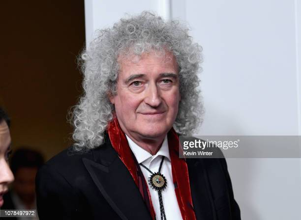Brian May of Queen poses in the press room during the 76th Annual Golden Globe Awards at The Beverly Hilton Hotel on January 6 2019 in Beverly Hills...