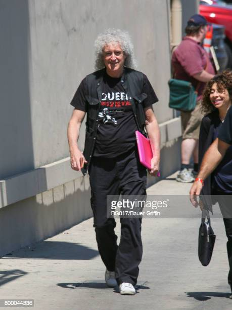 Brian May of the band 'Queen' is seen at 'Jimmy Kimmel Live' on June 22 2017 in Los Angeles California