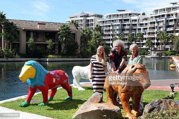 Brian May original member of supergroup Queen and acclaimed West End and Broadway singer Kerry Ellis at the V A Waterfront in Cape Town South Africa...