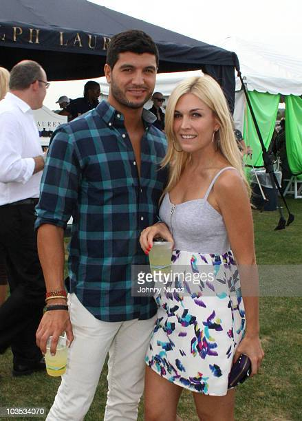 Brian Mazza and Tinsley Mortimer attend the 2010 MercedesBenz Polo Challenge at Blue Star Jets Field at Two Trees Farm on August 21 2010 in...