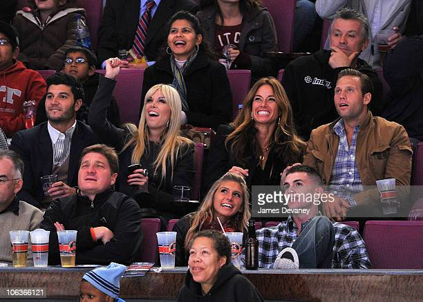 Brian Mazza Tinsley Mortimer Kelly Bensimon and boyfriend attend the Carolina Hurricanes Vs NY Rangers Game at Madison Square Garden on October 29...
