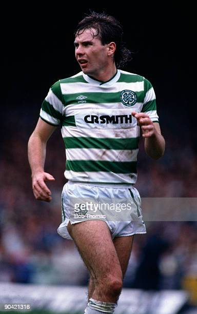 Brian McClair of Celtic during the Celtic v Rangers Scottish Premier League match played at Parkhead in Glasgow on the 31st August 1985.