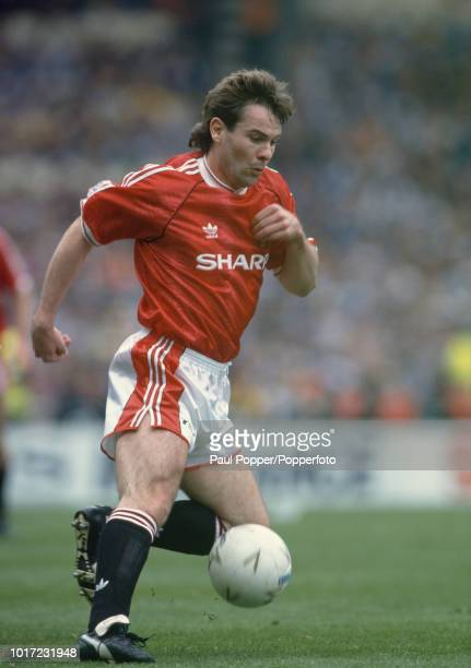 Brian McClair of Manchester United in action circa 1991