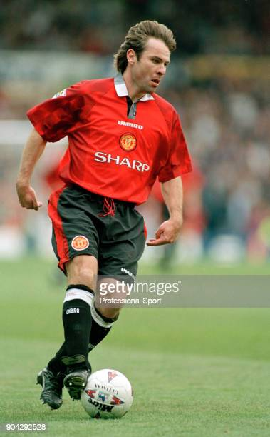 Brian McClair of Manchester United in action circa 1997