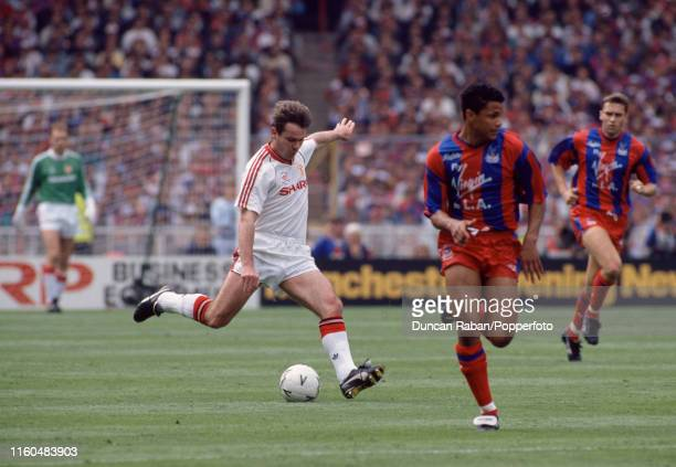 Brian McClair of Manchester United in action during the FA Cup Final between Crystal Palace and Manchester United at Wembley Stadium on May 12 1990...