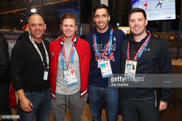 Brian McDonald US Olympians John Daly Matt Antoine and Kyle Tress attend the USA House at the PyeongChang 2018 Winter Olympic Games on February 10...