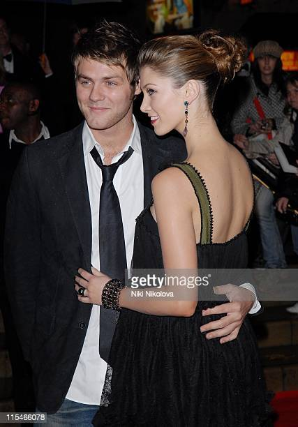 Brian McFadden and Delta Goodrem during 2006 Emeralds and Ivy Ball in Celebration of Cancer Research at The Roundhouse in London Great Britain