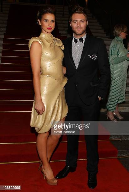 Brian McFadden and Vogue Williams arrive at a function to unveil Dannii Minogue's favourite Melbourne Spring Fashion Week 2011 looks at Melbourne...