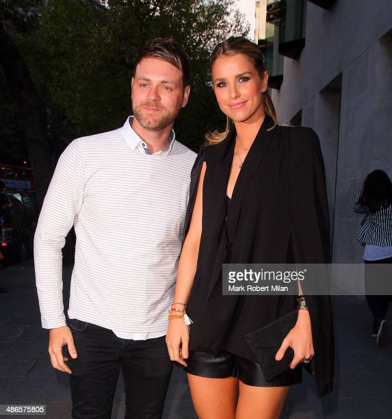 Brian McFadden and Vogue Williams attending the Stealing Banksy VIP event at the ME Hotel on April 24 2014 in London England