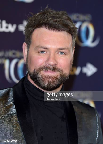 Brian McFadden attends a photocall for the new series of Dancing On Ice at Natural History Museum Ice Rink on December 18 2018 in London England