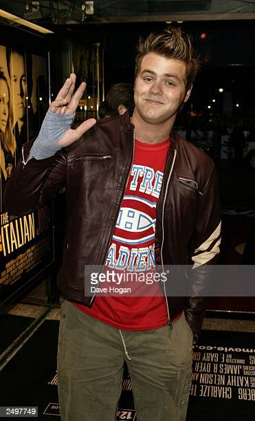 """Brian McFadden attends the UK charity premiere of """"The Italian Job"""" at the Empire, Leicester Square on September 15, 2003 in London."""