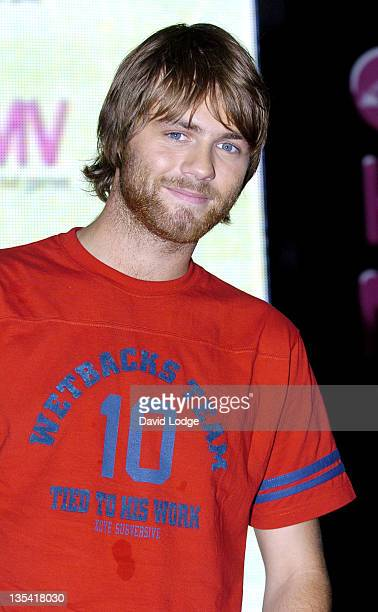 Brian McFadden during Brian McFadden Signing his New Single Real to Me at HMV in London Great Britain