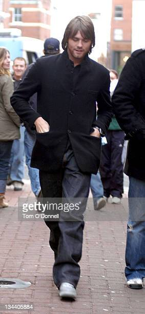 Brian McFadden during Celebrity Sightings Brian McFadden Meets Fans In Dublin at Grafton Street in Dublin Ireland