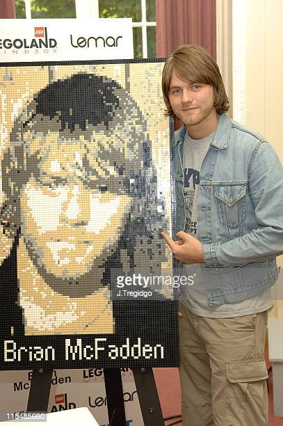 Brian McFadden during Lemar and Brian McFadden Unveil Lego Bricks Mosaics of Themselves at Legoland in Windsor Great Britain