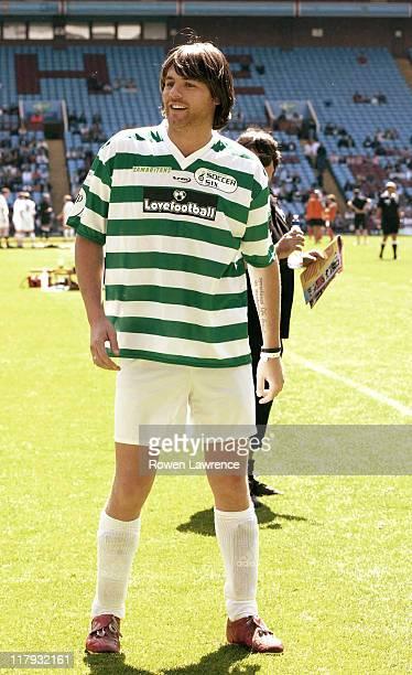 Brian McFadden during Soccer Six Celebrity Soccer Tournament at Villa Park Birmingham in Birmingham Great Britain