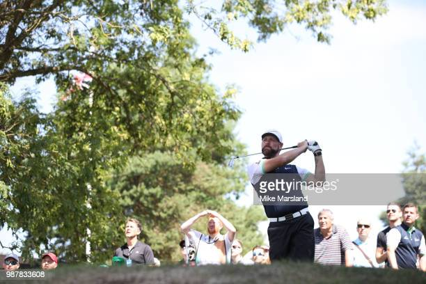Brian McFadden during the 2018 'Celebrity Cup' at Celtic Manor Resort on June 30 2018 in Newport Wales