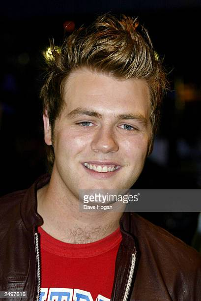 """Brian McFadden from Westlife attends the UK charity premiere of """"The Italian Job"""" at the Empire Leicester Square September 15, 2003 in London,..."""