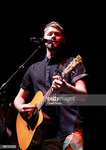 Brian McFadden performs at 02 Arena on January 26 2013 in London England
