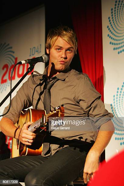 Brian McFadden performs at Australia's Next Top Model party for 2Day FM at the Argyle Hotel on April 22 2008 in Sydney Australia