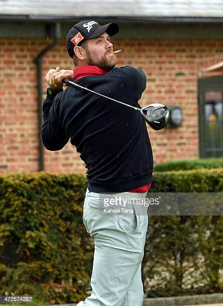 Brian McFadden takes part in the ISPS Handa Mike Tindall 3rd annual celebrity golf classic at The Grove Hotel on May 8 2015 in Hertford England