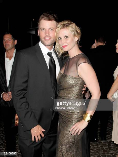 Brian McFayden and Bonnie Somerville attend the 4th annual Face Forward LA Gala at Fairmont Miramar Hotel on September 28, 2013 in Santa Monica,...