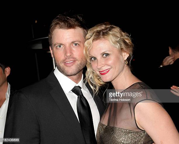 Brian McFayden and Bonnie Somerville attend the 4th annual Face Forward LA Gala at Fairmont Miramar Hotel on September 28 2013 in Santa Monica...