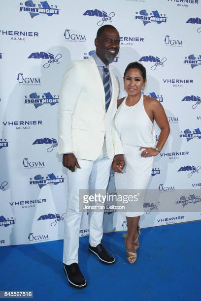Brian McKnight and Leilani Mendoza attend the Closing Night Gala at Cinecittà as part of the 2017 Celebrity Fight Night in Italy Benefiting The...