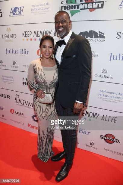 Brian McKnight and Leilani Mendoza attend the Dinner at Galleria Doria Pamphilj as part of the 2017 Celebrity Fight Night in Italy Benefiting The...