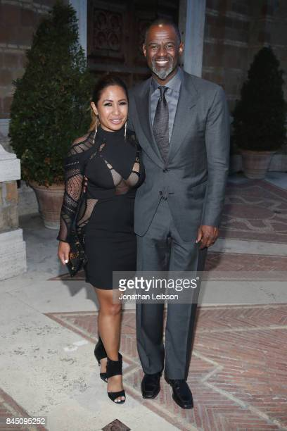 Brian McKnight and Leilani Mendoza attend the Dinner at Villa Madama as part of the 2017 Celebrity Fight Night in Italy Benefiting The Andrea Bocelli...