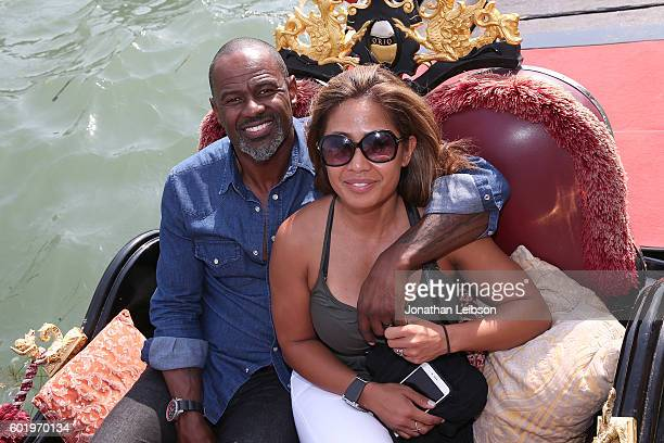 Brian McKnight and Leilani Mendoza In Venice as part of Celebrity Fight Night Italy Benefiting The Andrea Bocelli Foundation and The Muhammed Ali...