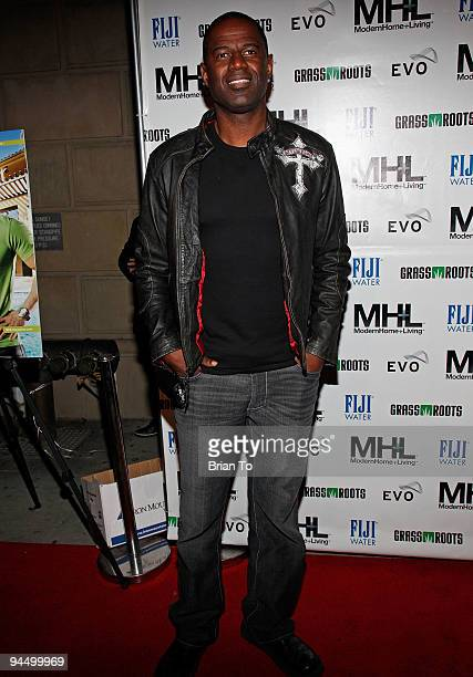Brian McKnight attends MHL Magazine premiere party at Boulevard3 on December 15 2009 in Hollywood California
