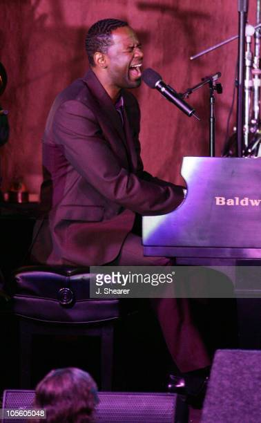 Brian McKnight during A Tribute to Ray Charles Hosted by Morehouse College and Bill Cosby Show at Beverly Hilton in Beverly Hills California United...