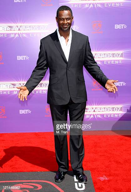 Brian McKnight during BET Awards 2007 Arrivals at Shrine Auditorium in Los Angeles California United States
