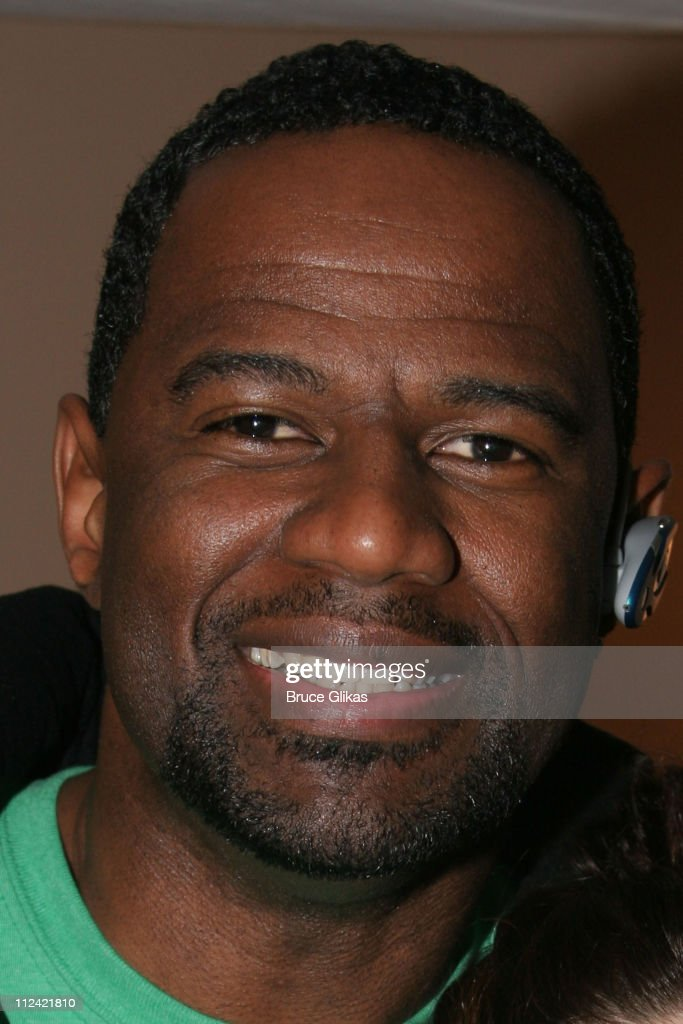 Brian McKnight during Bruce Willis and Brian McKnight Visit 'Wicked' on Broadway at The Gershwin Theater in New York, New York, United States.