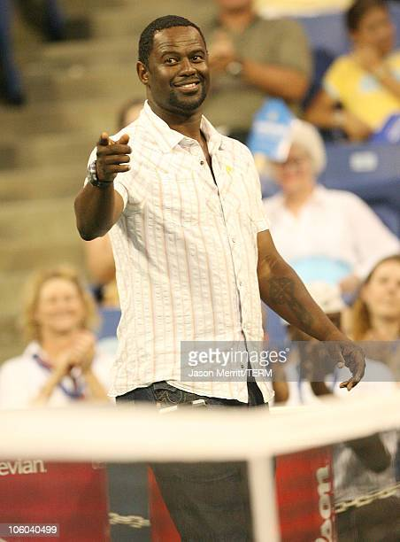 """Brian McKnight during Gibson and Baldwin Host 2006 """"Night at the Net"""" - Game at Los Angeles Tennis Center in Westwood, California, United States."""