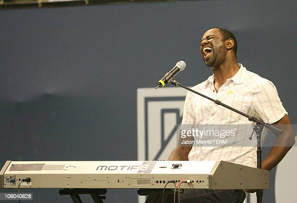 Brian McKnight during Gibson and Baldwin Host 2006 'Night at the Net' Game at Los Angeles Tennis Center in Westwood California United States