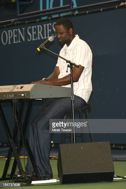 Brian McKnight during Gibson/Baldwin Night at the Net at Los Angeles Tennis Center in Los Angeles CA United States