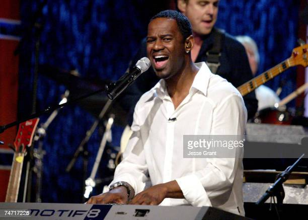 Brian McKnight on the Jimmy Kimmel Live show on ABC Photo by Jesse Grant/WireImagecom/ABC at the El Capitan Entertainment Center in Hollywood...
