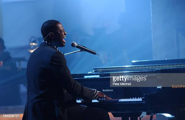 Brian McKnight performing during the BET Walk of Fame show Honoring Stevie Wonder
